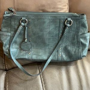 Rosetti Purse. Light teal color
